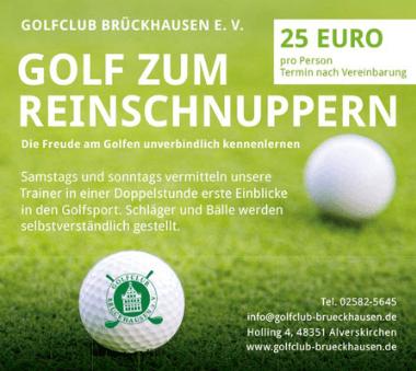 Golfclub Brückhausen Münster Danksagung Treue