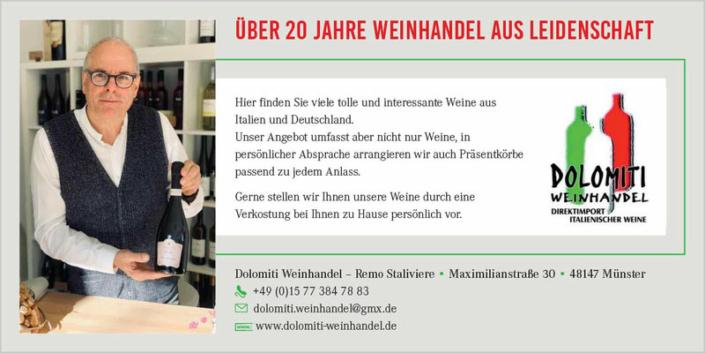 Anzeige Dolomiti Weinhandel Münster