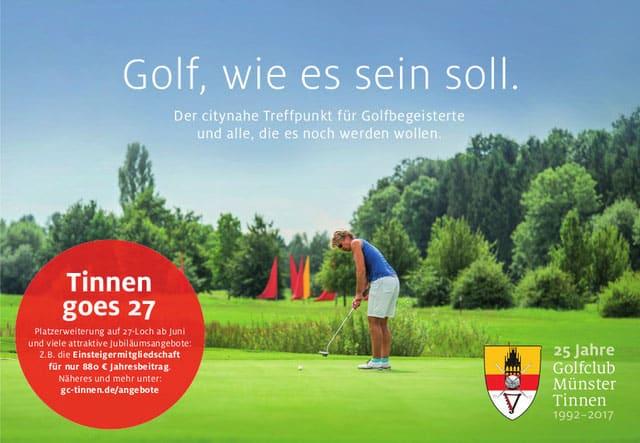 Golfclub Münster-Tinnen langjähriger Partner