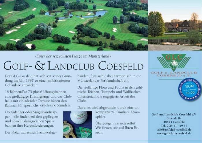 Anzeige GLC Coesfeld Golfkurs