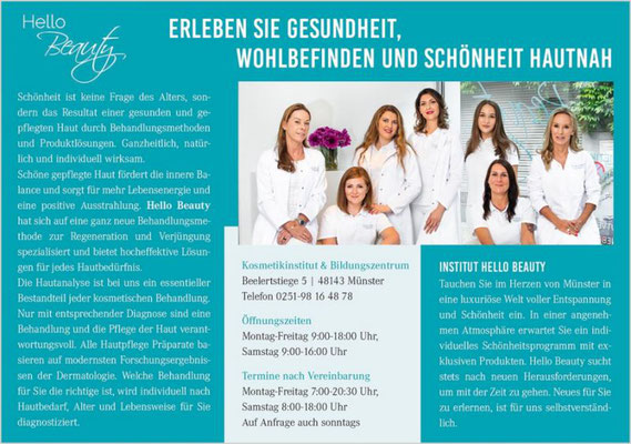 Anzeige Hello Beauty Kosmetik Institut Münster