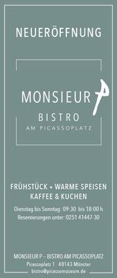 Anzeige Bistro Monsieur Münster