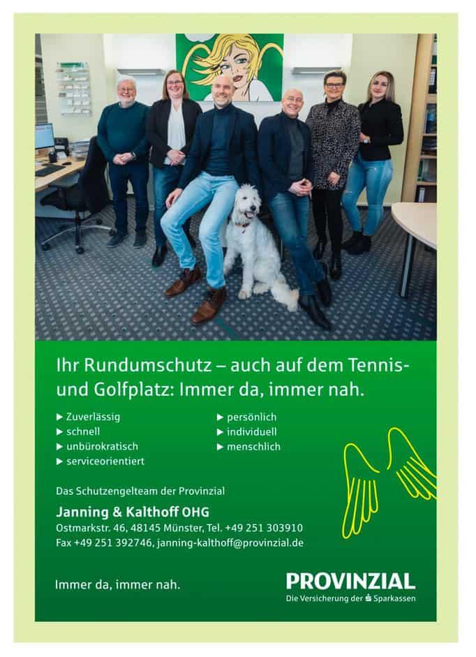 Anzeige Provinziell Janning und Kalthoff OHG