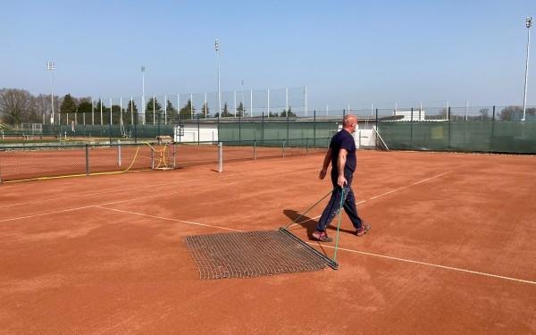 Tennisplatz Grün-weiß Albersloh