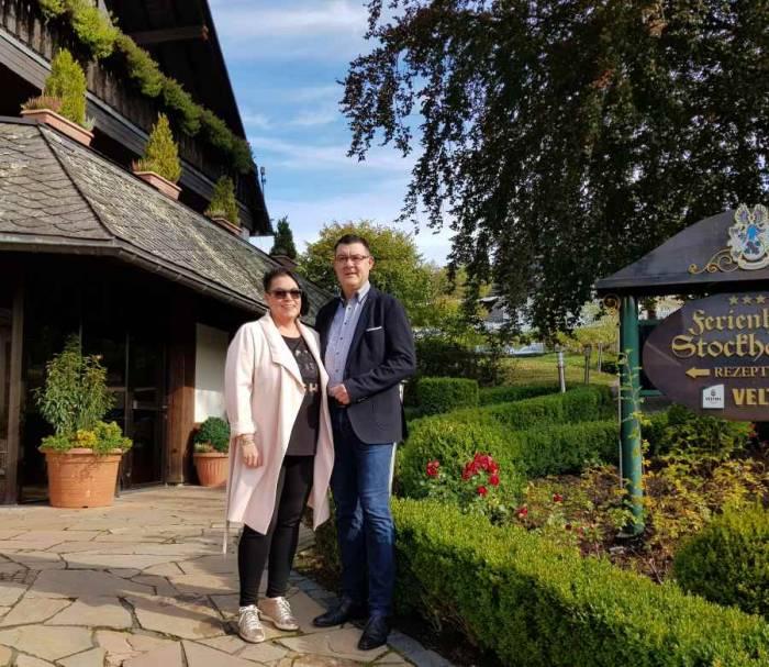 Anja und Guido Stockhausen-Weinem Hotel Stockhausen