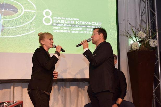 Jan Josef Liefers und Anna Loos Eagles Krimi Cup