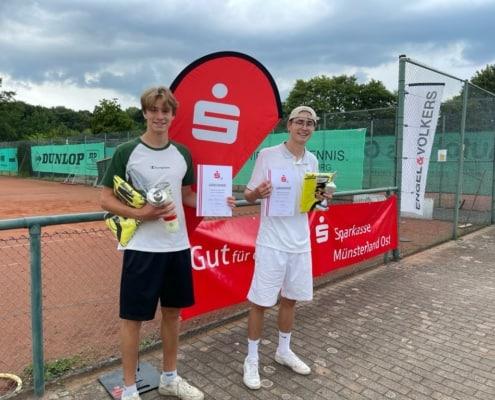 Zufriedene Teilnehmer beim Jugend Sparkassen Cup in Münster